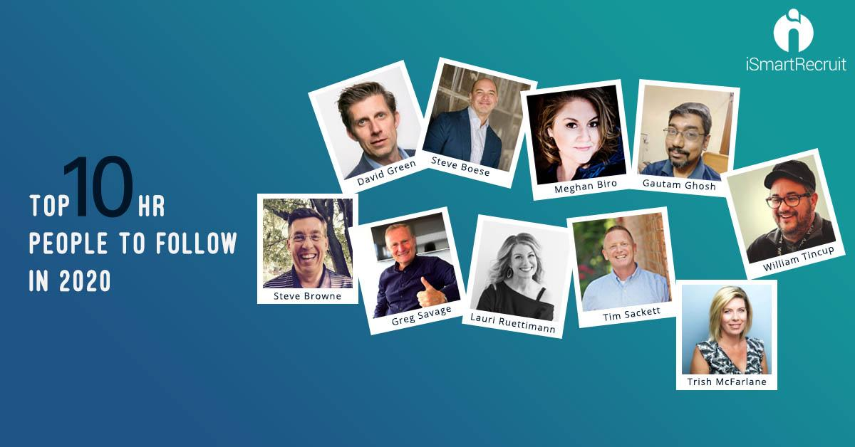 Top 10 HR Influencers to follow in 2021