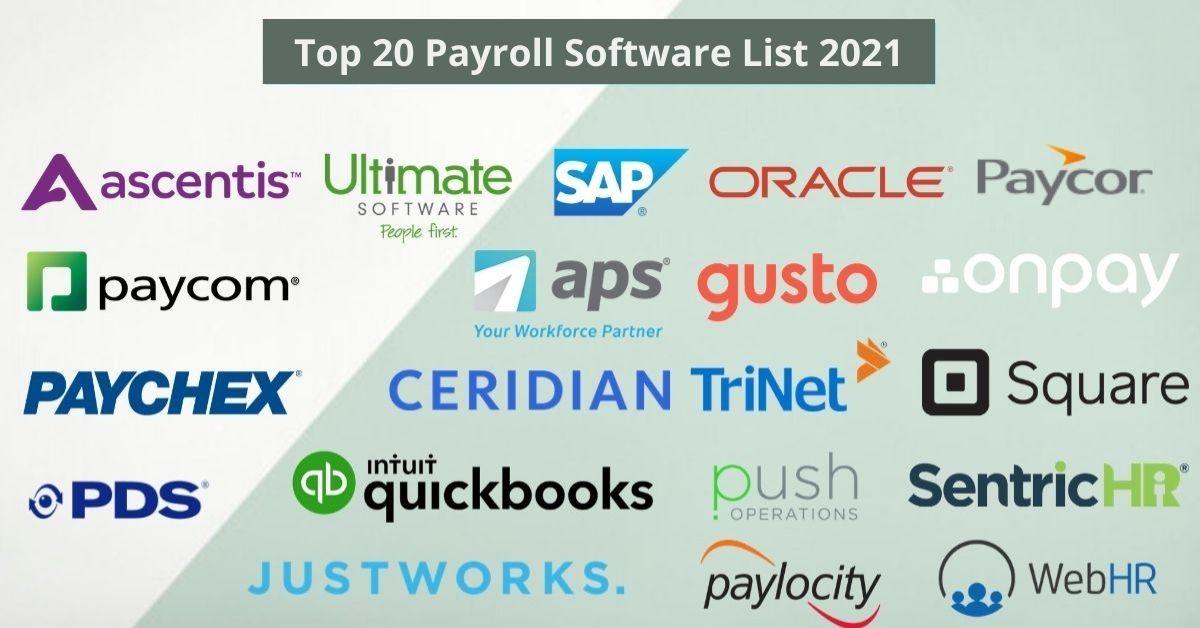 Top 20 Payroll Software List 2021
